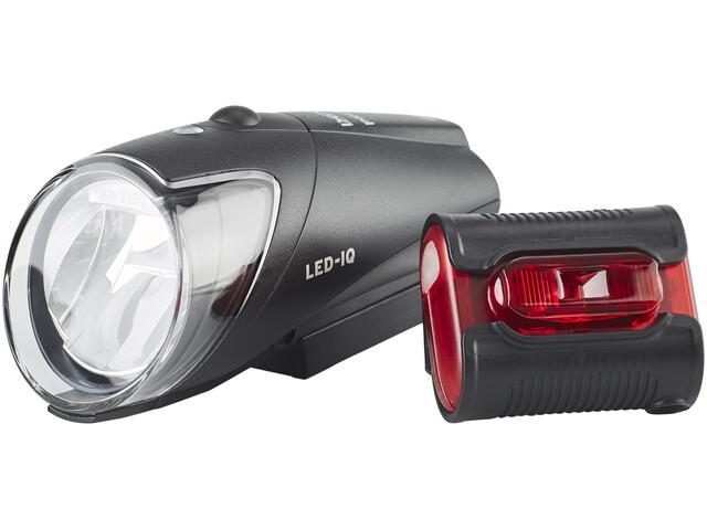 Busch + Müller IXON-IQ Premium + IXBACK senso USB Zestaw oświetlenia czarny